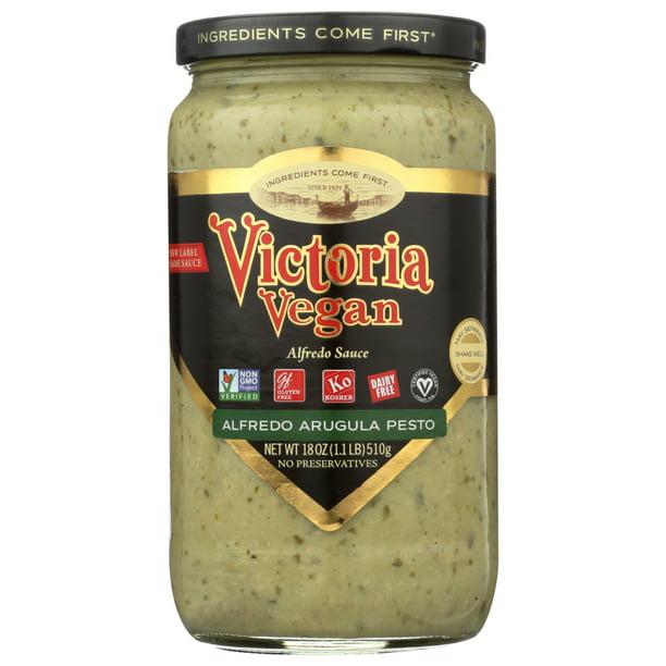 Victoria Fine Foods Pasta Sauce Vegan Alfredo Arugula Pesto 18 Oz Walmart Com Walmart Com