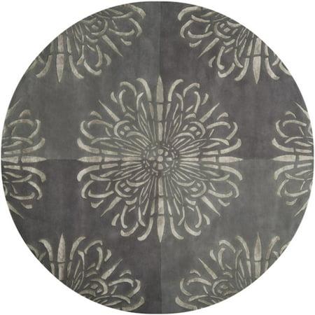 8 Anastasia Charcoal Gray Hand Tufted New Zealand Wool
