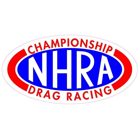 "NHRA Championship Drag Racing 5"" Decal Free Shipping in the United States."