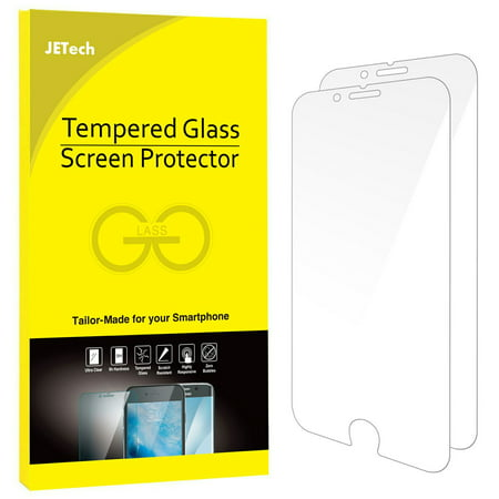 iPhone 7 Plus Screen Protector, JETech 2-Pack Premium Tempered Glass Screen Protector for Apple iPhone 7 Plus 5.5