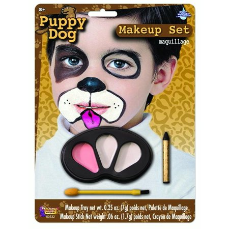 Cute Colors Puppy Halloween Face Paint Animal Child Makeup Kit - Painted Dog Face For Halloween