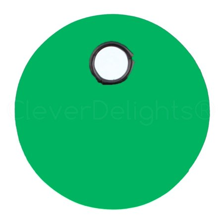25 Pack - CleverDelights Green Plastic Tags - 1