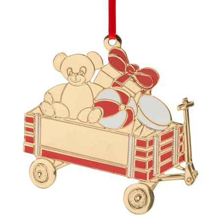 Teddy Bear Wagon Ornament