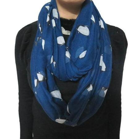 New Fashion Lady Womens Cute Penguin Print Scarf Shawl Soft Scarves BU