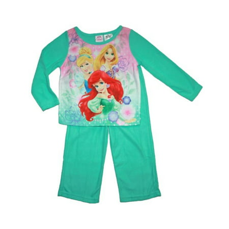 Little Girls' Fleece 2-Piece Pajama Set, 2T-4T, Disney Princess, Size: - Disney Princess Sleepwear