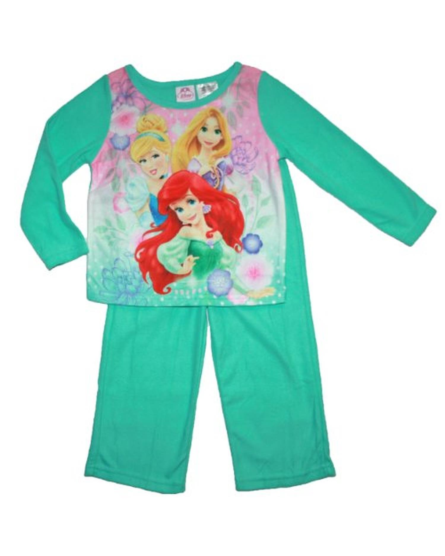 Little Girls' Fleece 2-Piece Pajama Set, 2T-4T, Disney Princess, Size: 3T