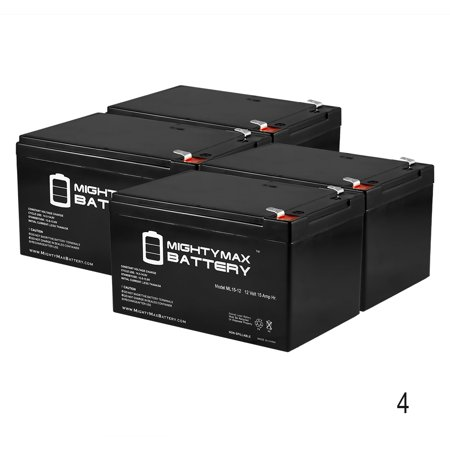 Ml15 12 12V 15Ah F2 Battery Replacement For Invacare Zoom 3   4 Pack
