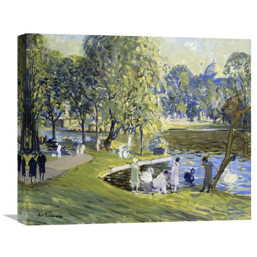 Global Gallery 'Public Garden, Boston' by Arthur Clifton Goodwin Painting Print on Wrapped Canvas