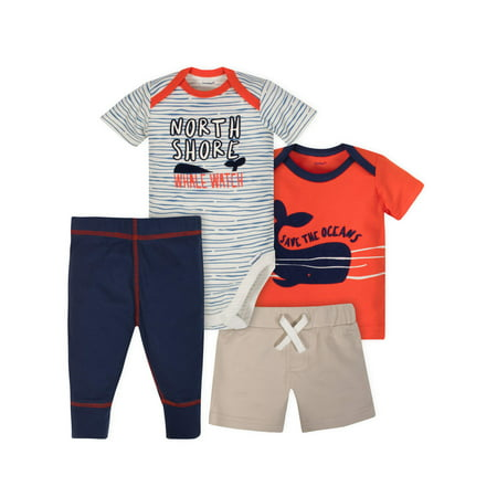 The Incredibles Outfit Maker (Bodysuit, Shirt, Short and Pant Mix N Match Outfit Set, 4pc (Baby)