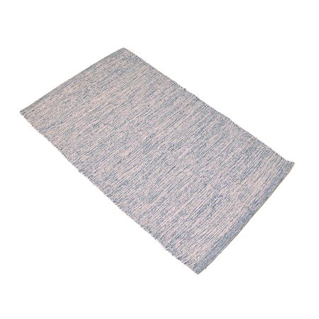 Gray 2x3' Rug Cotton Recycled Reversible Doormat Rug for Entryway Living room, Bedroom Bathroom or Home Décor, Easy Clean (24