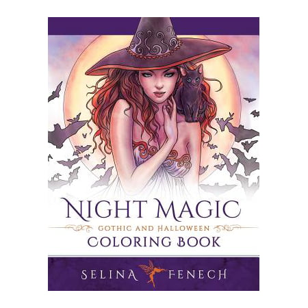 Night Magic - Gothic and Halloween Coloring Book - Halloween Colouring Book