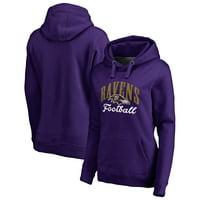 Baltimore Ravens NFL Pro Line by Fanatics Branded Women's Victory Script Pullover Hoodie - Purple