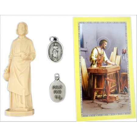 Home Seller Kit Saint Joseph Statue Figurine With Prayer Card