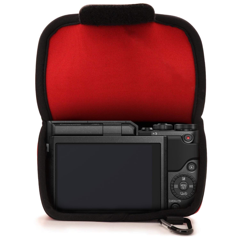 12-32mm DMC-GF7 DMC-GF8 GX800 MegaGear Ultra Light Neoprene Camera Case compatible with Panasonic Lumix GX800