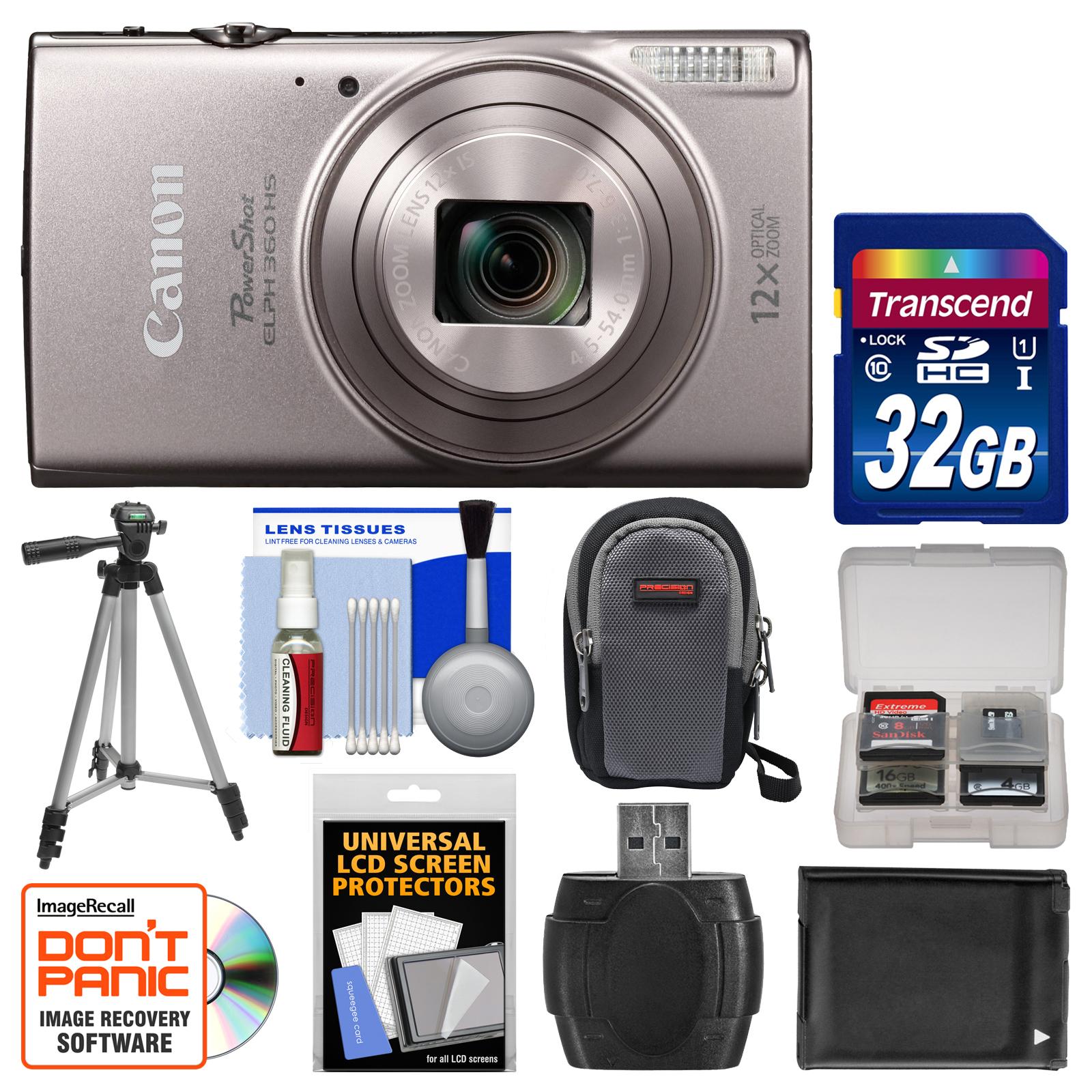 Canon Shot Elph 360 Hs Wi Fi Digital Camera Silver