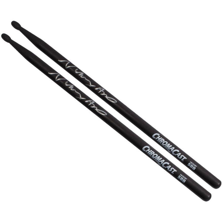 ChromaCast Vinny Appice 5BB Signed Black USA Hickory Drumsticks