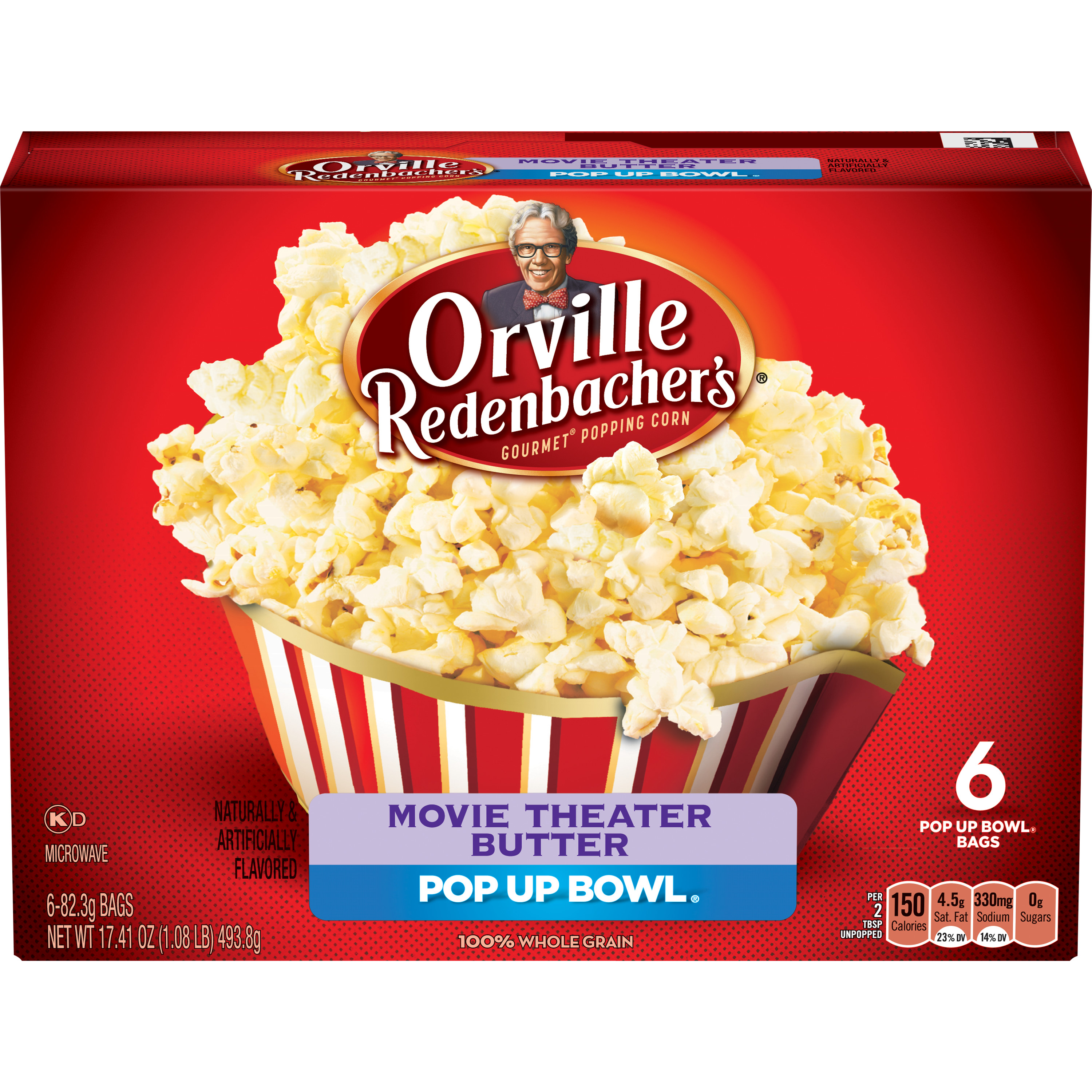 Orville Redenbacher's Movie Theater Butter Microwave Popcorn, 6 ct