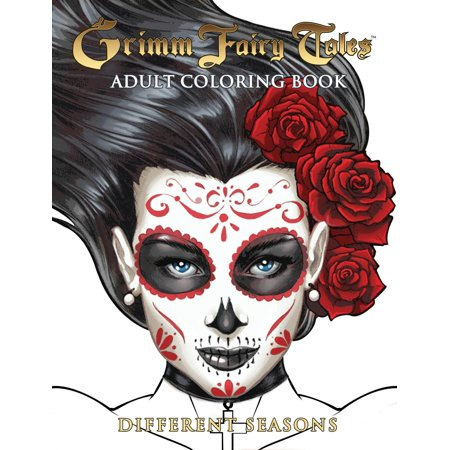 Grimm Fairy Tales Adult Coloring Book Different Seasons (Paperback) Fairy Tale Activity