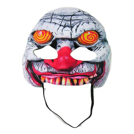 Swirl Eye Clown Mask Evil Killer Circus Twisted Carnival Clown Costume Accessory