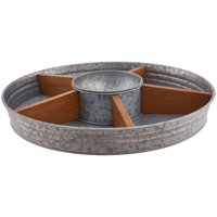 Better Homes & Gardens Galvanized & Wood Turntable w/Dip Bowl
