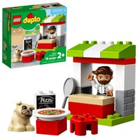 LEGO DUPLO Town Pizza Stand 10927 Building Play Set for Toddlers Aged 2 and up (18 Pieces)