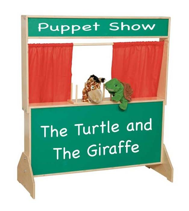 Kid's Play Deluxe Puppet Theater w Chalkboard
