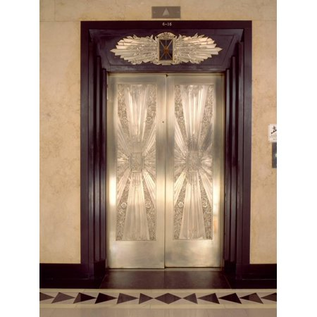 Nickel Metalwork Art Deco Elevator Doors, Two North Riverside Plaza, 400 West Madison Street Print Wall Art By Green Light Collection](Party City Madison West)