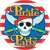 8 Pirate Party Lunch Plates - Party City Pirates