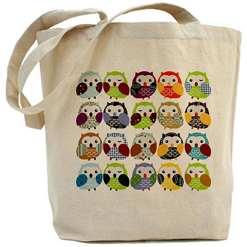 CafePress Colorful Owls Tote Bag