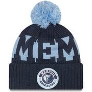 Memphis Grizzlies New Era Sport Logo Cuffed Knit Hat with Pom - Navy - OSFA