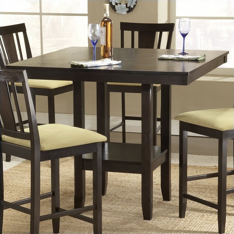 hillsdale arcadia square counter height casual dining table in