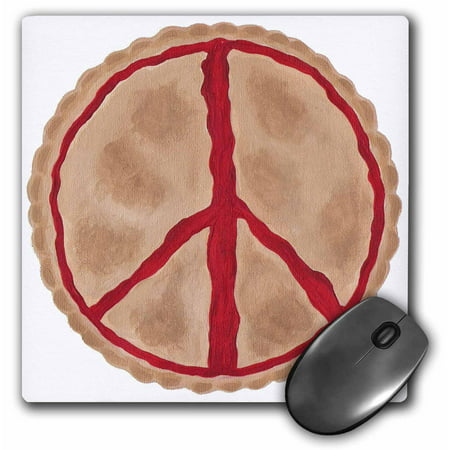 3dRose Cherry Peace Pie, Mouse Pad, 8 by 8 inches ()
