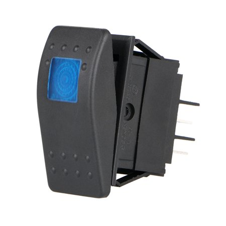 4 Pin 12V 20A Car Boat Auto ON/OFF Rocker Toggle Switch Waterproof Blue LED Light (C25 Car)