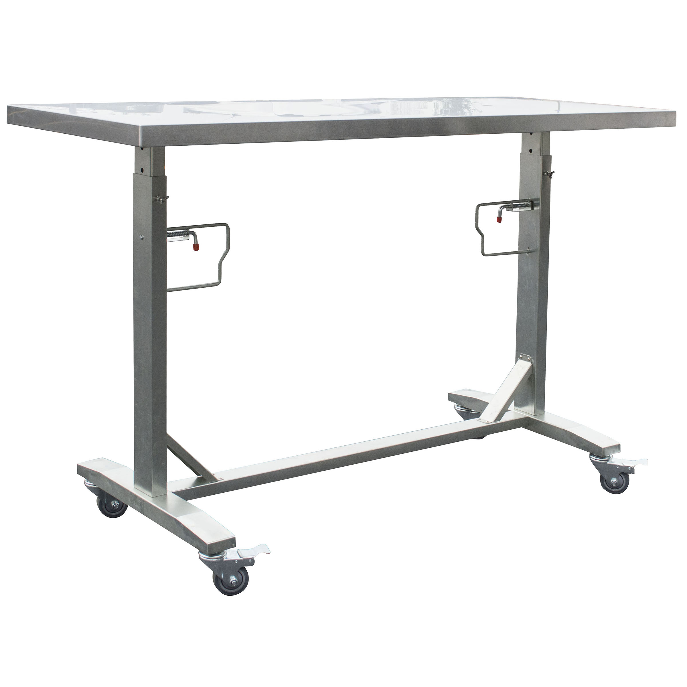 Sportsman Series Stainless Steel Adjustable Height Work Table With Rolling  Locking Casters