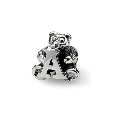 Reflection Beads QRS712A Sterling Silver Kids Letter A Bead - image 1 de 1