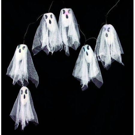 Scary Halloween Food Props (Morris Costumes  Light Up Ghost String Lights 63 in. Color-Changing Miniature Haunted Halloween Decoration Party Scary Prop Decor)