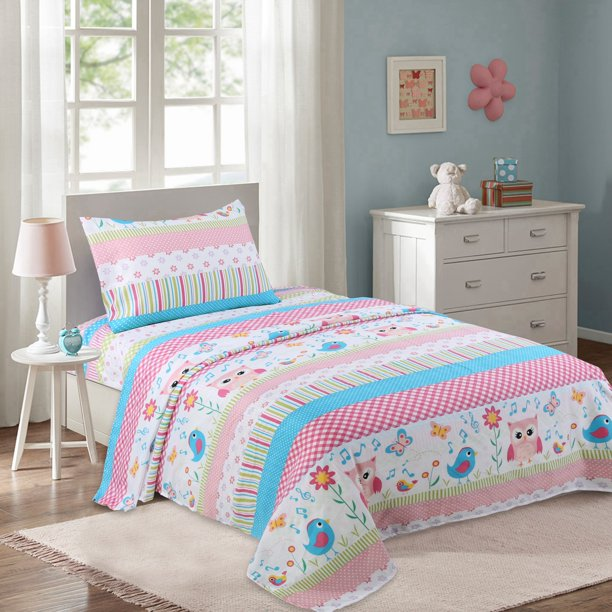 MarCielo Bed Sheets for Kids Twin Sheets for Kids Girls Boys Teens