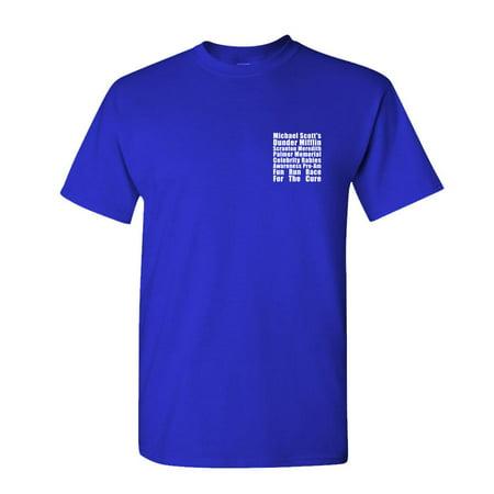 FUN RUN - Dunder Mifflin Michael Scott tv - Mens Cotton T-Shirt ()