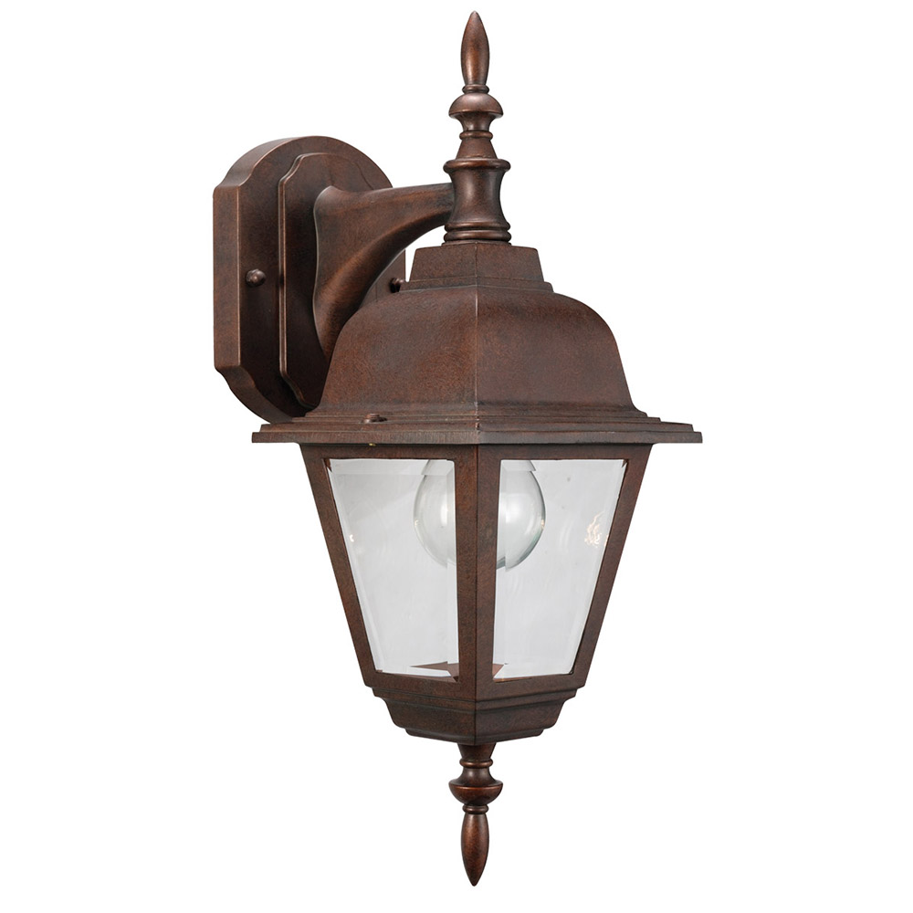 Design House 511469 Maple Street 1-Light Indoor/Outdoor Wall Light, Washed Copper