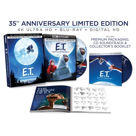 E.T. The Extra-Terrestrial - 35th Anniversary Limited Edition (4K Ultra HD + Blu-ray + Digital Copy) - Halloween 35th Anniversary Edition