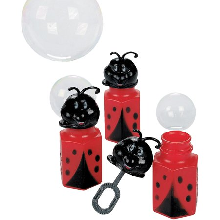Lot of 12 Ladybug Bubble Bottles Party Favors Fun Express #136630950 for $<!---->