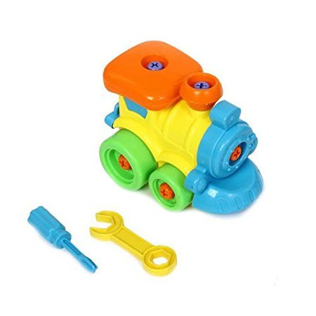 Dazzling Toys Construct a Vehicle Set Including Take-Apart and Assemble Train and Tools. - Take Apart Toys