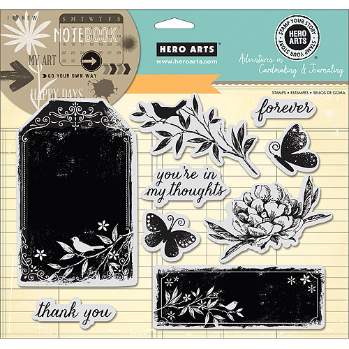 "Hero Arts Adventures In Cardmaking and Journaling Cling Stamps, Forever, 8"" x 6"""