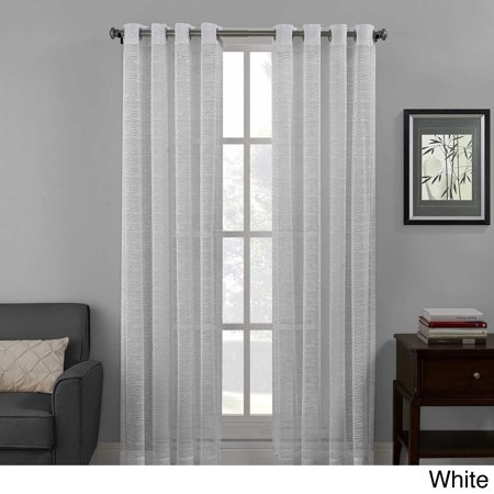 Richloom Home Fashions Structure Lace Grommet Top Curtain Panel