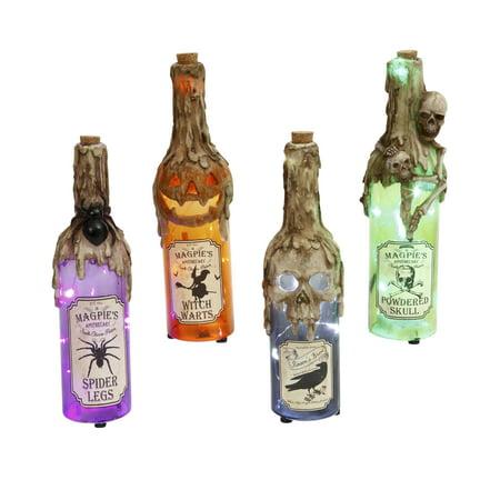 Halloween Pop Bottle Crafts (Gerson Assorted 12-Inch High Lighted Glass Halloween)