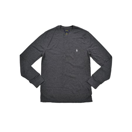 9a275827 Polo Ralph Lauren - Polo Ralph Lauren Mens Mixed Media Thermal T-shirt (L,  Dark Gray) - Walmart.com