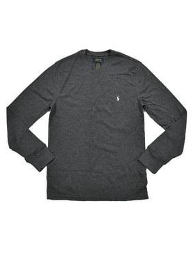 1ef88128 Product Image Polo Ralph Lauren Mens Mixed Media Thermal T-shirt (L, Dark  Gray)