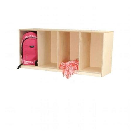 Stacking Locker - Wood Designs 46410 Open Stack Locker - Single Unit