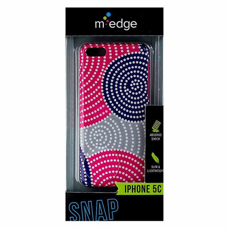 M-Edge Snap Series Slim Hardshell Case for Apple iPhone 5C - Pink / Purple Dots