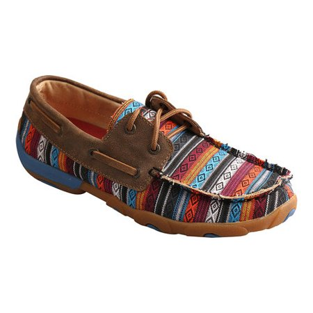 Women's Twisted X Boots WDM0076 Driving Moc Tribal Boat Shoe